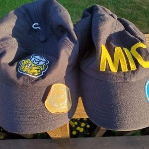 NWT University of Michigan Wolverines Hats x 2